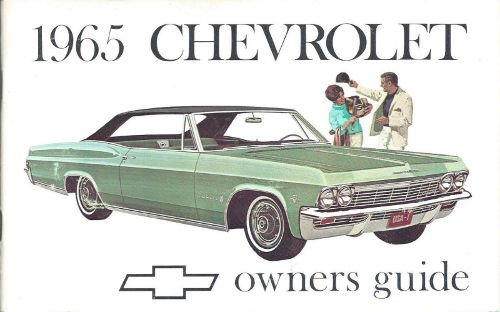 1965 Chevy Owner's Manual Reprint Impala, SS Caprice Bel Air Biscayne (Impala Biscayne Door)