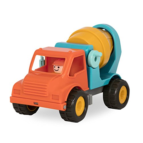 Battat Cement Mixer Truck with Working Movable Parts and Driver - Toy Trucks for Toddlers 18m+