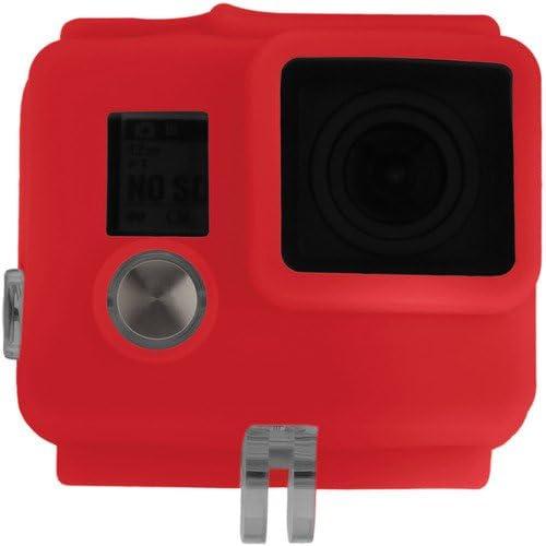 2 Pack Revo Silicone Skin for GoPro HERO3+//HERO4 Standard Housing Red