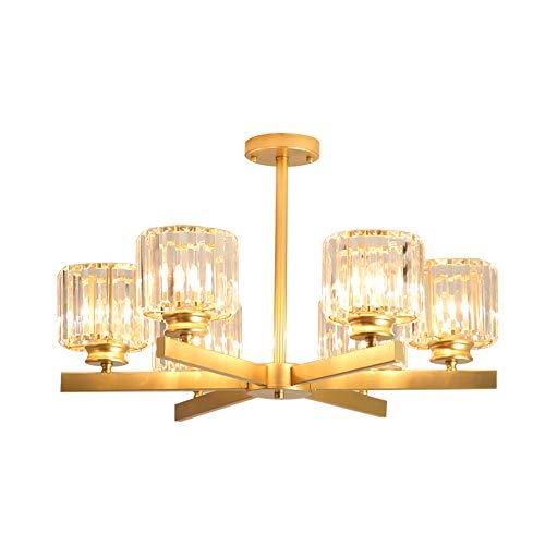Windsor Home Deco WH-63424-6 A Modern Crystal Chandelier, Golden Metal/Crystal Pendant Lights Fixture, Pendant Lamp for Bedrooms Lighting