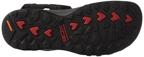 Rockport Mens Trail Tecnica Velcro Sandalo Sandalo Nero