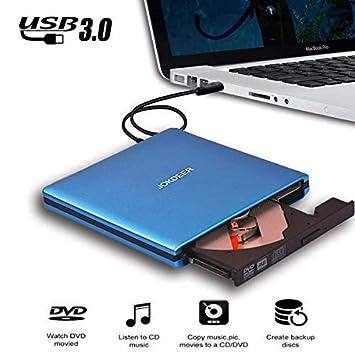 Unidad de DVD Externa USB 3.0 [Alta Velocidad] Grabador de CD CD DVD Reproductor
