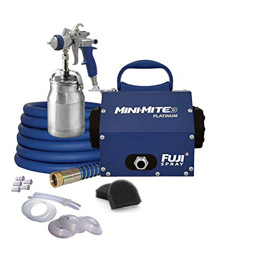 Fuji Mini-Mite 3 T70 HVLP Spray System with Bottom Feed Cup Parts Kit and Nylon Strainers Accessory Bundle
