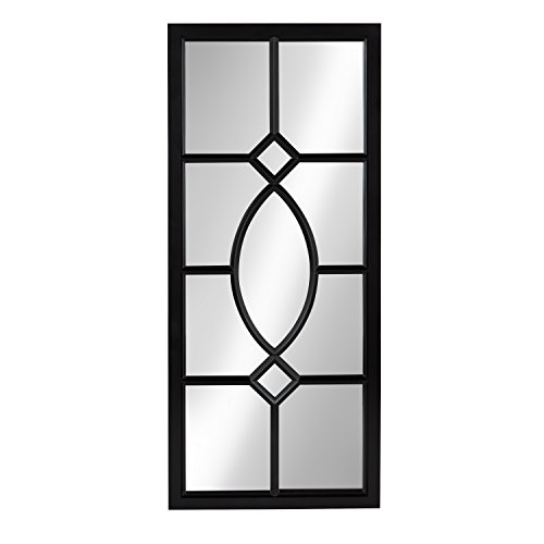 Kate and Laurel Cassat Window Wall Accent Mirror, Black (Decorative Mirrors Metal Framed)