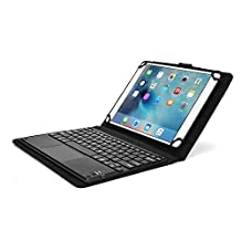 Samsung Galaxy Note 10.1 2014 keyboard case, COOPER TOUCHPAD EXECUTIVE 2-in-1 Wireless Bluetooth Keyboard Mouse Leather Travel Cases Cover Holder Folio Portfolio + Stand SM-P600 P601 P605 P607 (Black)