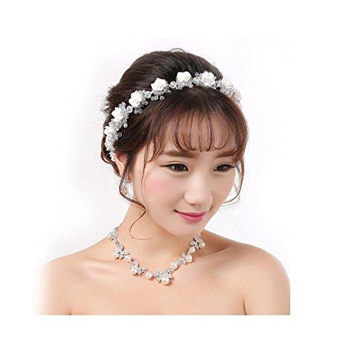 VITORIA'S GIFT Simulated Pearl Crystals Bridal Wedding Bridal Headband Tiara