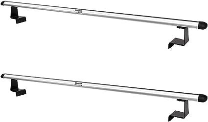 Durevo Soporte universal para escalera de camioneta con longitud ajustable, dos barras de aluminio y cuatro soportes compatibles con cubierta enrollable Tonneau: Amazon.es: Coche y moto