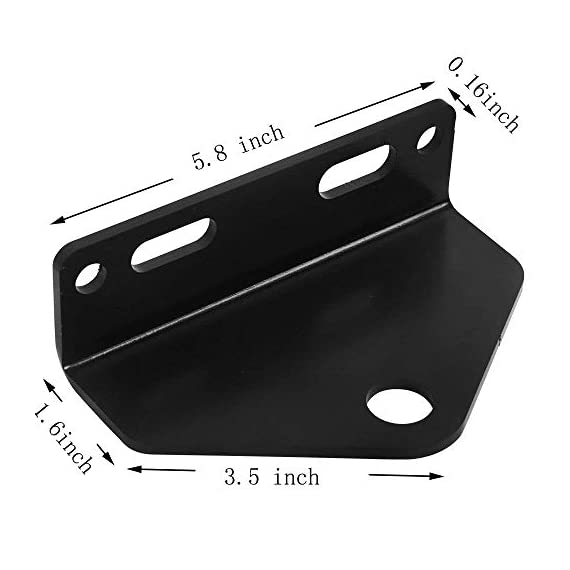 "Zero Turn Mower Trailer Hitch 5 2 Universal Mower Trailer Hitch 5"",OUTSIDE HOLES ON 5"" CENTERS INSIDE HOLE SLOTTED 2""-3"" CENTERS. ITEM Condition:NEW"
