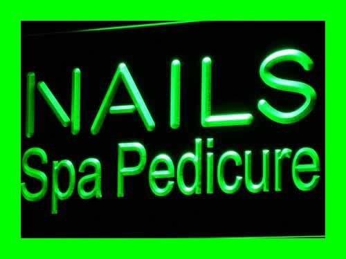 Nails Spa Pedicure Beauty Salon LED Sign Neon Light Sign Dis