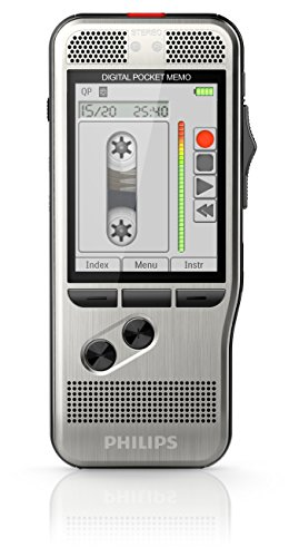 Philips Pocket Memo 7000 Digital Recorder with Slide Switch Operation, 4 GB Memory