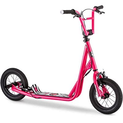 "Mongoose 12"" Expo Scooter It features neon green accents Actual Color: Pink : Sports & Outdoors"