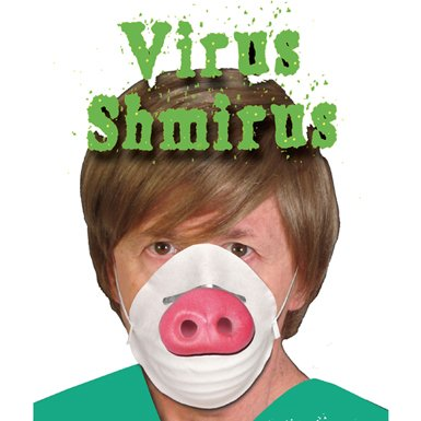 HMS Funny Swine Flu Mask Halloween Costume (Adult Swine Latex Mask)