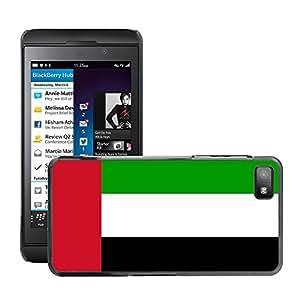 GoGoMobile Slim Protector Hard Shell Cover Case // V00001002 united arab emirates National Flag // BlackBerry Z10