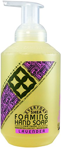 Alaffia – EveryDay Shea – Foaming Shea Butter Hand Soap, Lavender, 18 Ounces