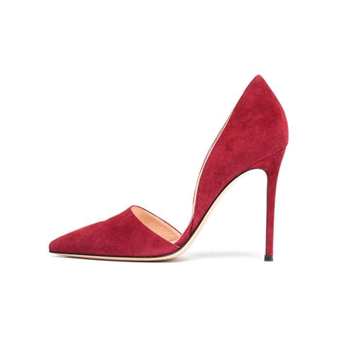 Lff ff Tacchi Alti Sandali Da Donna - Alti A Punta Scarpe Spillo Banchetto Alla Moda Sposa altezza Tacco 8 Cm red 46