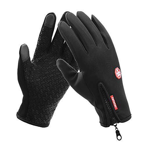 Touch Screen Gloves with light-reflecting strips attached for Warning and Safety in the night time. Warmer Winter Gloves for Men and Women. Cold weather Outdoor Wind-proof Sport ()