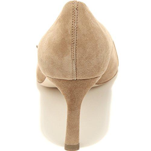 T 75 96505 Scarpa Donna Shoes Tod's Decollete Cuoio Pelle Women Beige Sc Fibbia IwwtCqHgx