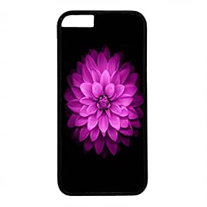 Unique Design Case for iphone 6,Fashion Black Plastic Case Back Cover for iPhone 6 with Flower Pattern Black Background