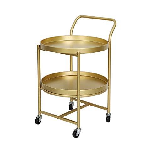 Creative Simple Wheeled Cart Coffee Table Home Living Room Bedroom Sofa Side Beauty Club Movable Table (Holders Table Patio Leg)