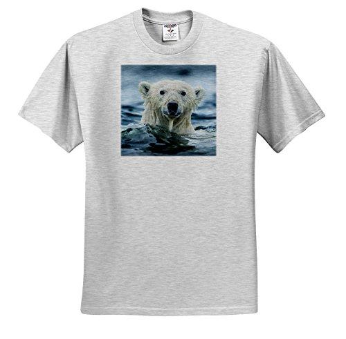 Danita Delimont - Bears - Canada, repulse Bay, Polar Bear Pokes Its Head Above Water. - T-Shirts - Youth Birch-Gray-T-Shirt XS(2-4) (TS_257551_27) -