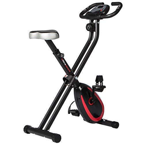 Ultrasport Unisex F-Bike, pantalla LCD, entrenador casero plegable, niveles de resistencia ajustables, con sensores de pulso de mano, entrenador de bicicleta plegable, para atletas y mayores a buen precio
