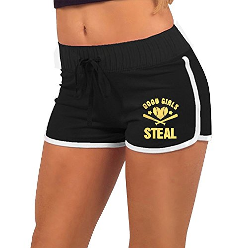 Steal Funny Softball Womens Sports Running Workout Dolphin Shorts ()