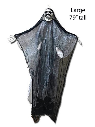 79'' Halloween Hanging Skeleton Ghost Creepy Scary Decoration Best Halloween Decoration Prop by The Festive Shop