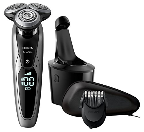 Philips Series 9000 Wet and Dry Men's Electric Shaver S9711/31 with SmartClean Plus System & Beard Trimmer - Amazon Exclusive