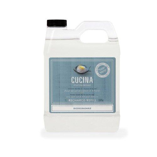 Cucina Sea Salt and Amalfi Lemon 33.8 oz Hand Soap Refill -
