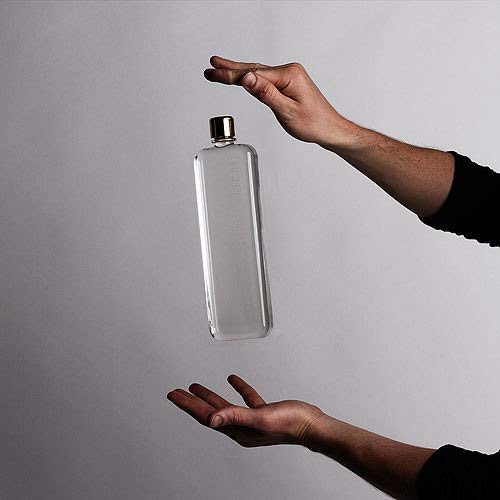 memobottle Slim The Flat Water Bottle That fits in Your Bag | BPA Free | 15oz ()