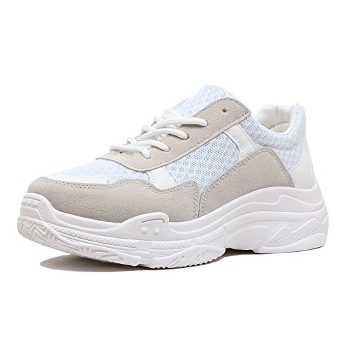 Comfortable Sneakers Walking Platform Guilty Fashion Womens Heart Grey Retro Multimaterial 9 Daddy YwqnCz8n1x