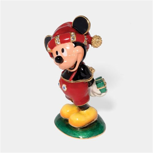 D56 Dept 56 Bejeweled Mickey Mouse Xmas Trinket Box