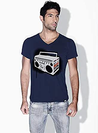 Creo Music Radio Trendy T-Shirts For Men - S, Blue