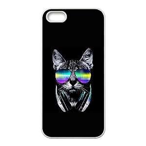 iPhone 4 4s Cell Phone Case White Music Lover Cat V.II LQ7381514