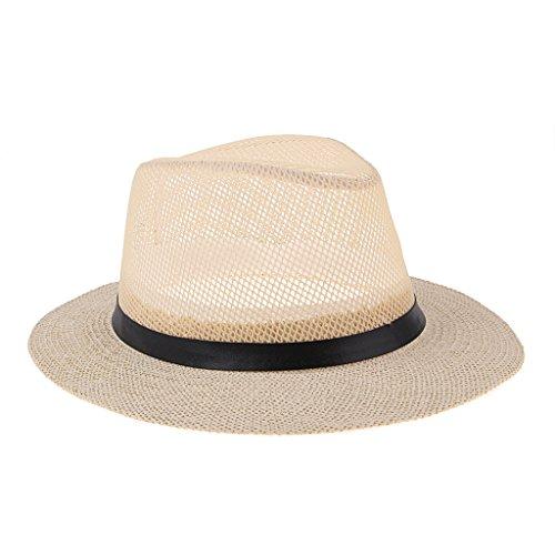 Baosity レトロ 旅行 西洋帽子 ストローハット サンハット 折り畳み式 軽量 着心地良い 2枚入