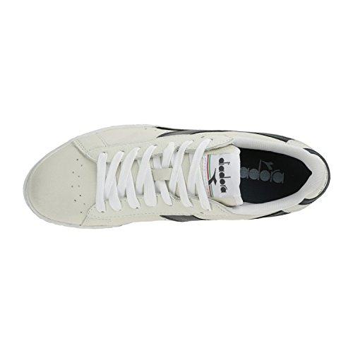 Diadora Unisex Adults' Game L Low Waxed Athletic, White Off White (Bianco Blu Mar Caspio)