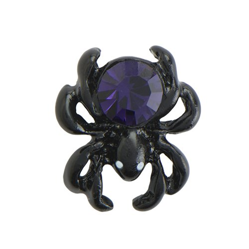Origami Owl ~ BLACK SPIDER WITH PURPLE CRYSTAL CHARM - HALLOWEEN 2016 - LIMITED EDITION (City Of Cincinnati Halloween)