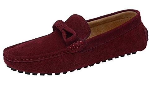 Tda Mens Mode Décontracté Bout Rond Marche Conduite Doug Chaussures Vin Rouge