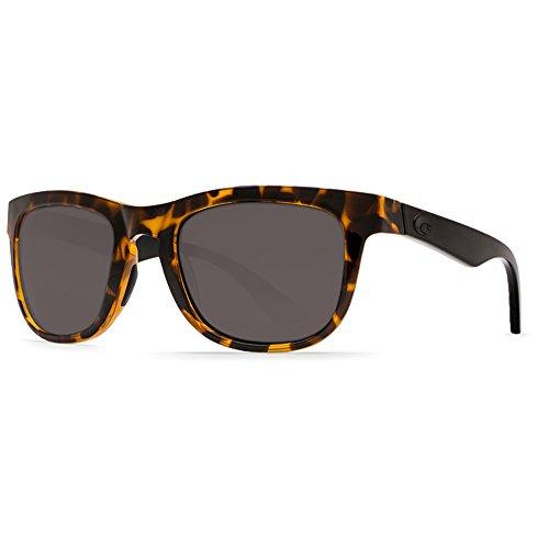 Costa Del Mar Copra Sunglasses, Retro Tortoise with Black Temples/Gray 580 Plastic