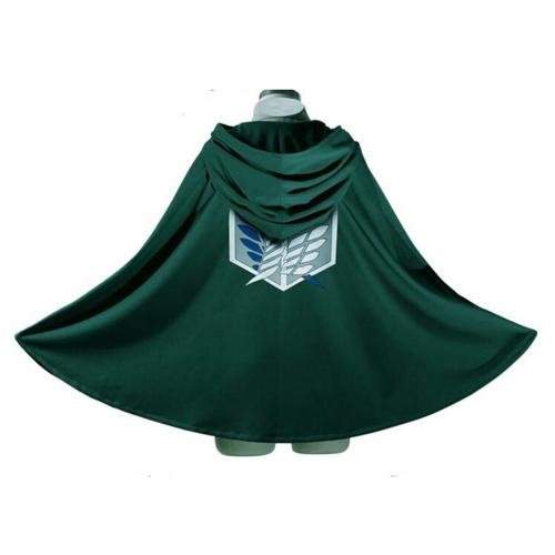 Febecool Anime Cosplay Cloak,Attack on Titan Survey Corps Badge-Wings of Liberty (Attack On Titan Cosplay Eren)