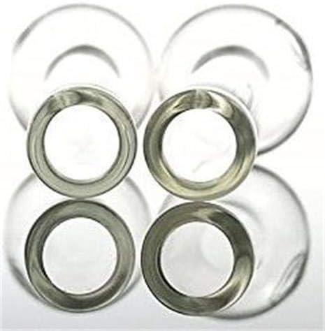SJM/&B Burners Handmade Oil Glass 4 Inch 5 PCS Clear(BSR Burner Set)