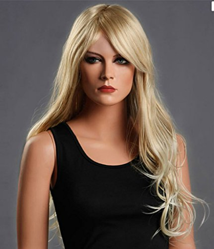 Sexy Women Long Wavy Curly Full Wigs Party Hair Cosplay Wig (Blonde) NW01 (Costume Ideas For Men With Beards)