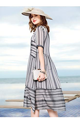 Line cotyledon Scoop Dresses A Dress Loose Neck Sleeve Short Women`s awa58rq