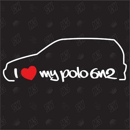 Speedwerk Motorwear I Love My Polo 6n2 Sticker Kompatibel Mit Vw Baujahr 1999 2001 Auto