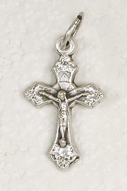 Tiny Catholic Crucifix on Fiip Ring