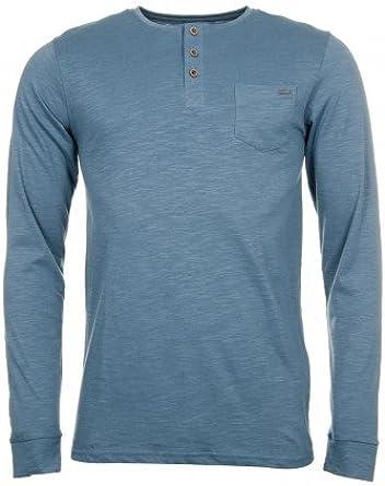 Tiffosi - Camisa Casual - Básico - para Hombre Gris Gris Claro Medium: Amazon.es: Ropa y accesorios