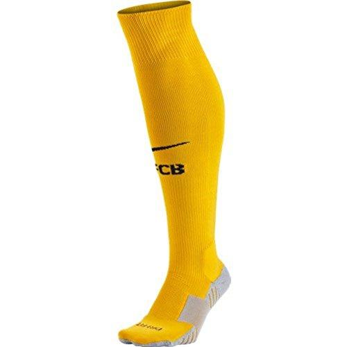 Nike 2015/16 Adult FC Barcelona Goalkeeper Stadium Sock [University Gold] (L) (Barcelona Keeper Jersey)