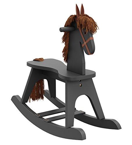 Storkcraft Wooden Rocking Horse, Gray, Kids Rocking Horse Ch