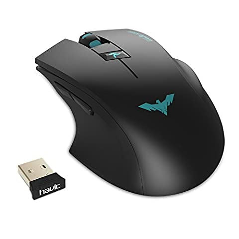 HAVIT 2.4GHz Adjustable 2000 DPI Wireless Gaming Mouse for PC/Computer/Laptop (Gaming Mouse And Laptop)