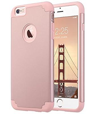 ULAK Slim Protective Case for iPhone 6 Plus, iPhone 6s Plus Hybrid Soft Silicone Hard Back Cover Anti Scratch Bumper Case